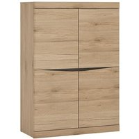 Product photograph showing Kenstoga Wooden 4 Doors Storage Cabinet In Grained Oak