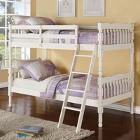 Product photograph showing Kerri Wooden Bunk Bed In Cream