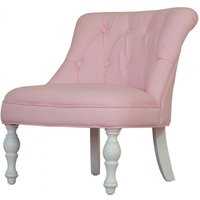 Kids Mini Fabric Chair In Cabrio Pink With Wooden Legs