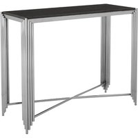 Product photograph showing Knudson Granite Top Console Table With Stainless Steel Frame