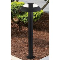 Product photograph showing Kocab Mushroom Outdoor Led Tall Post Light In Dark Grey