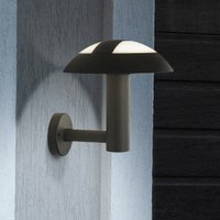 Product photograph showing Kocab Mushroom Outdoor Led Wall Light In Dark Grey