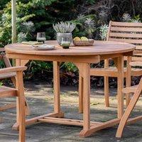 Komaya Outdoor Extending Wooden Dining Table In Oak