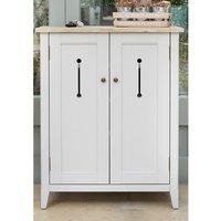 Krista Wooden Shoe Storage Cabinet In Grey With 2 Doors