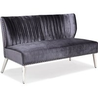 Product photograph showing Kristin Silken Sofa In Charcoal