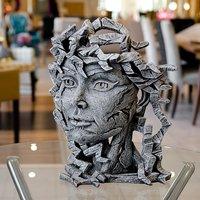 Product photograph showing Kuma Venus Bust Edge Sculpture