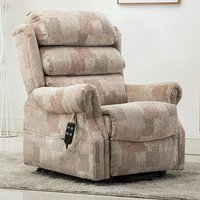 Product photograph showing Ladbroke Fabric Electric Recliner Chair In Autumn Mosiac