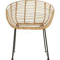 image-Lagom Kubu Rattan Rounded Bedroom Chair In Natural