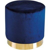 image-Lara Velvet Pouffe In Royal Blue