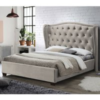 Product photograph showing Lauren Fabric Double Bed In Champagne