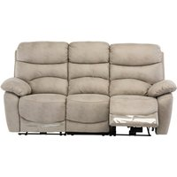 Product photograph showing Layla Fabric Electric Recliner 3 Seater Sofa In Natural