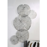 Product photograph showing Leaf Metal Wall Art In Silver
