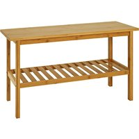 Leandro Wooden Shoe Storage Bench In Natural