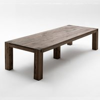 Leeds Large Wooden Dining Table In Oak Weathered