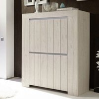 Product photograph showing Leilani Wooden Highboard In Beige Oak