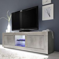 Product photograph showing Taylor Led Wooden Large Tv Stand In White Pine With 2 Doors