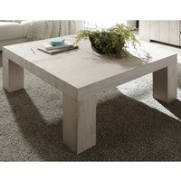 Product photograph showing Leilani Square Wooden Coffee Table In Beige Oak