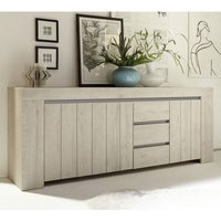 Product photograph showing Leilani Wooden Sideboard In Beige Oak