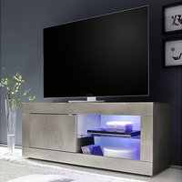 Product photograph showing Taylor Led Wooden Small Tv Stand In White Pine With 1 Door