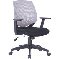 Lemaire Office Chair In Black With Grey Plastic Backrest