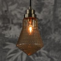 Product photograph showing Lenore Wall Hung Pendant Light In Brass