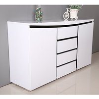 Leona Sideboard In White And Black High Gloss