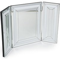 Liberty Dressing Table Mirror In Silver And White Gloss Frame