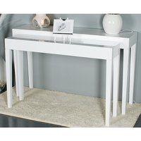 Product photograph showing Linea Set Of 2 Console Table In High Polished White