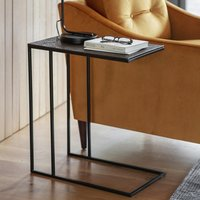 Product photograph showing Linton Supper Side Table In Antique Copper Finish Top