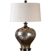 Product photograph showing Liro Table Lamp In Mottled Dark Bronze