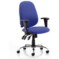 Lisbon Office Chair In Stevia Blue With Arms