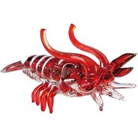 Product photograph showing Lobster Glass Design Sculpture In Red And Clear