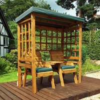 Lopra Henley 2 Seater Arbour In Green