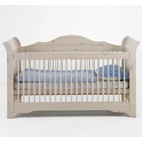 Lotta Wooden Baby Cot Bed In White Wash