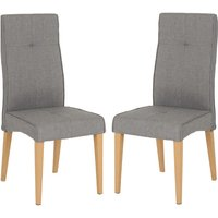 Product photograph showing Lucas Grey Fabric Dining Chairs In A Pair