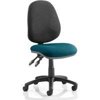 Luna II Black Back Office Chair In Maringa Teal