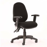 Luna II Office Chair In Black With Folding Arms