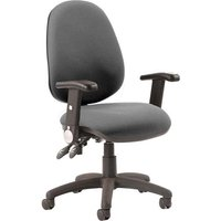 Luna II Office Chair In Charcoal With Folding Arms