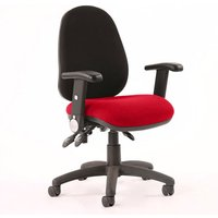 Product photograph showing Luna Iii Office Chair With Bergamot Cherry Seat Folding Arms
