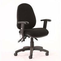 Product photograph showing Luna Iii Office Chair In Black With Folding Arms
