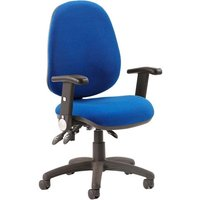 Product photograph showing Luna Iii Office Chair In Blue With Folding Arms