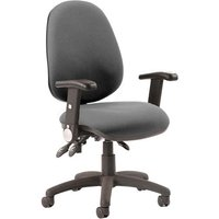 Product photograph showing Luna Iii Office Chair In Charcoal With Folding Arms
