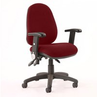 Luna III Office Chair In Ginseng Chilli With Folding Arms