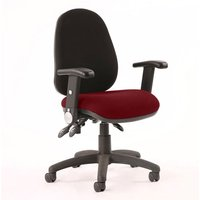 Product photograph showing Luna Iii Office Chair With Ginseng Chilli Seat Folding Arms