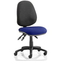Luna III Office Chair With Stevia Blue Seat No Arms