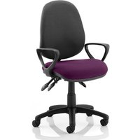 Product photograph showing Luna Iii Office Chair With Tansy Purple Seat Loop Arms
