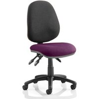 Product photograph showing Luna Iii Office Chair With Tansy Purple Seat No Arms