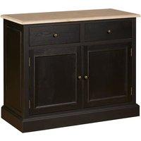Lyox Wooden 2 Doors 2 Drawers Sideboard In Black
