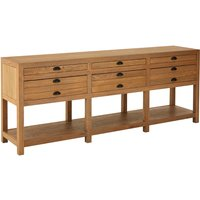 Lyox Wooden 6 Drawers Sideboard In Natural