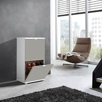image-Madison Small Shoe Storage Cabinet With Sand Fronts